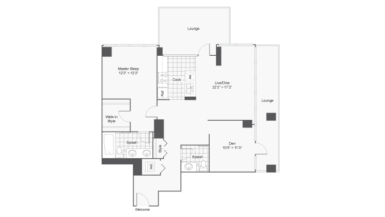 Floor Plan   Arrive LEX Apartment Homes for Rent in Chicago IL 60616