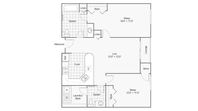 Floor Plan | Zen Chaska Apartment Homes for Rent in Chaska MN 55318