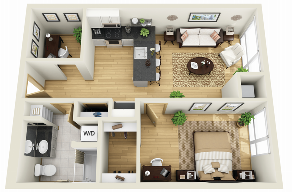 Floor Plan 6 | Luxury Apartments Minneapolis MN | Solhaus Apartments