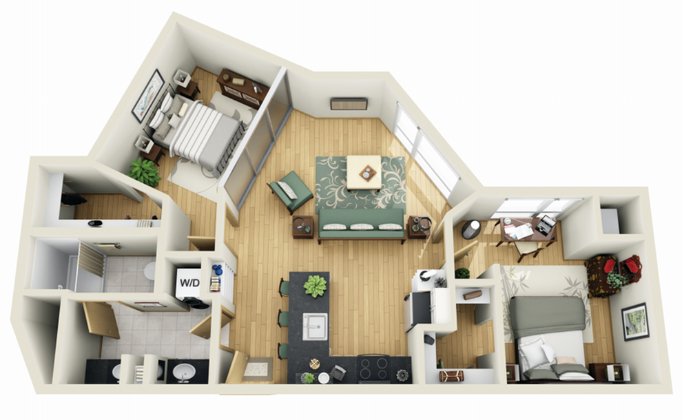 Floor Plan 17 | 1 Bedroom Apartments Minneapolis MN | Solhaus Apartments