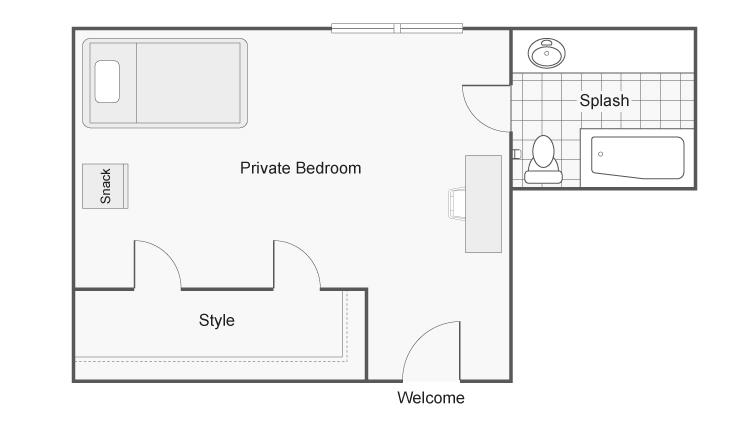 1 Bedroom Floor Plan | Apartments Near CSU Chico | The Social Chico