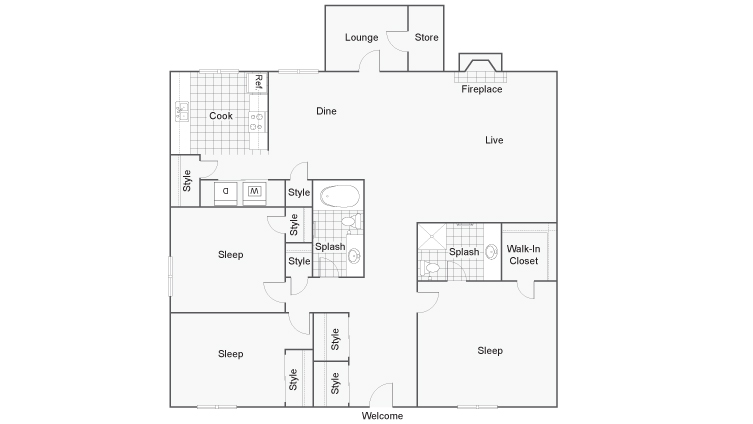 Floor Plan | ReNew 2900 Apartment Homes for Rent in Las Vegas, NV 89102