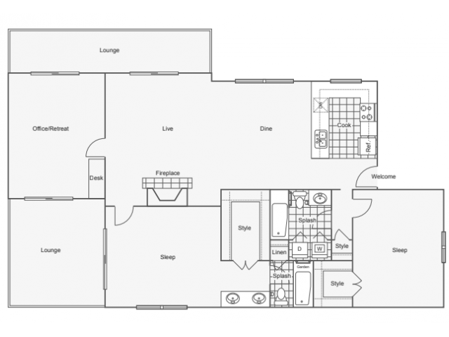 Floor Plan Image | Luxury Apartments In Dunwoody GA | 45Eighty Dunwoody Apartment Homes