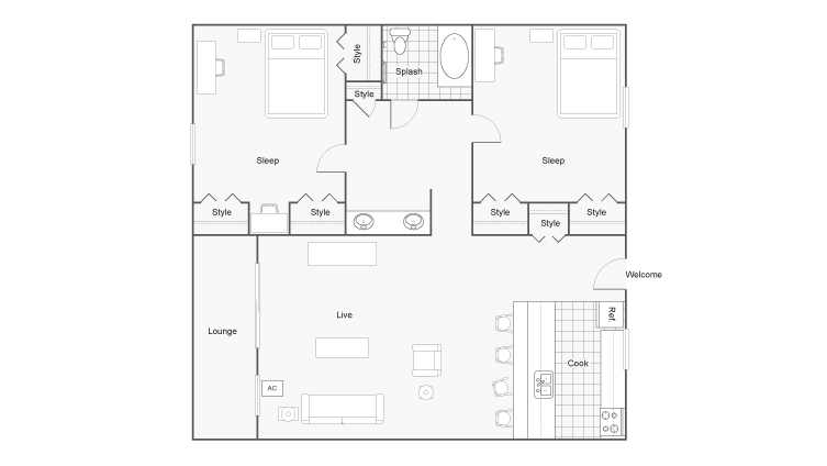 Floor Plan  | The Social West Student Spaces for Rent in Fort Collins CO 80521