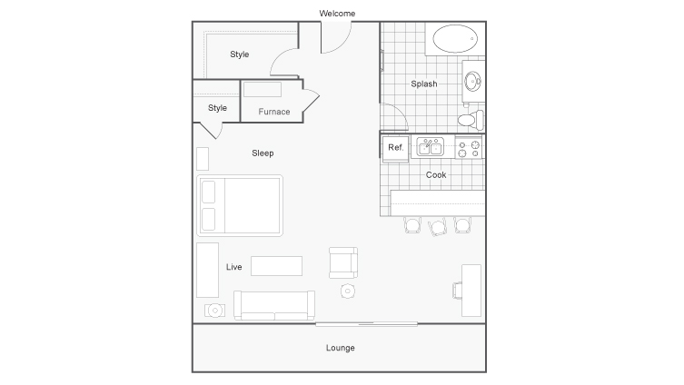 Floor Plan | The Social West Apartment Homes for Rent in Fort Collins CO 80521