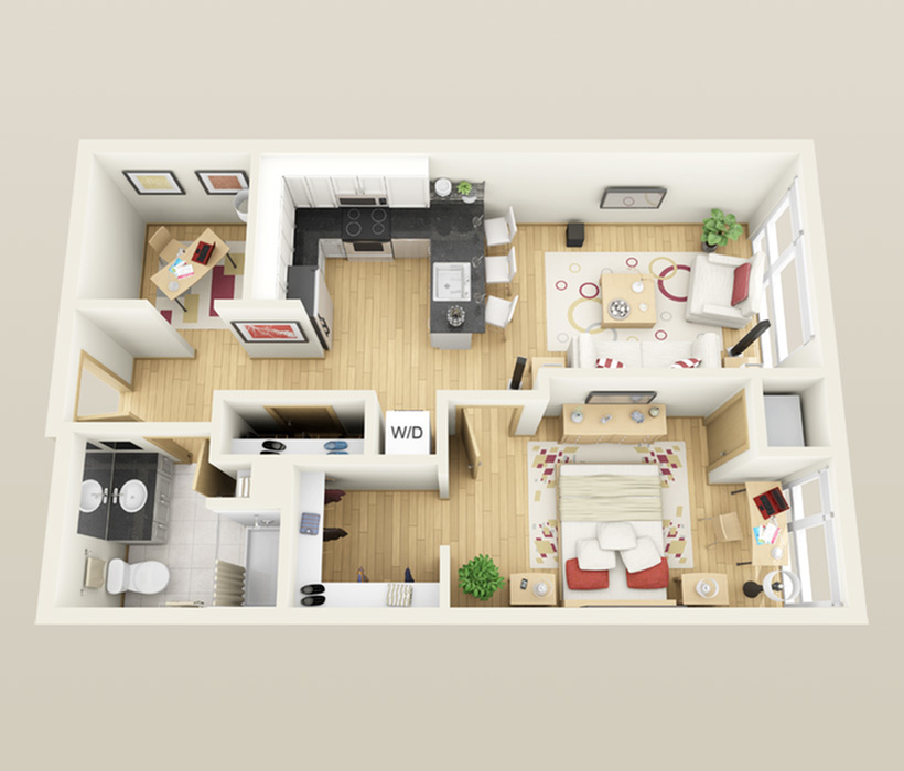 Floor Plan | Minneapolis Apartments Near University Of Minnesota | Solhaus Apartments