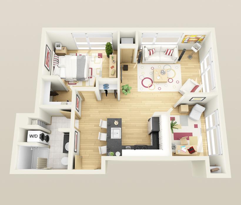 Floor Plan | Minneapolis Apartments Near University Of Minnesota | Solhaus Apartments