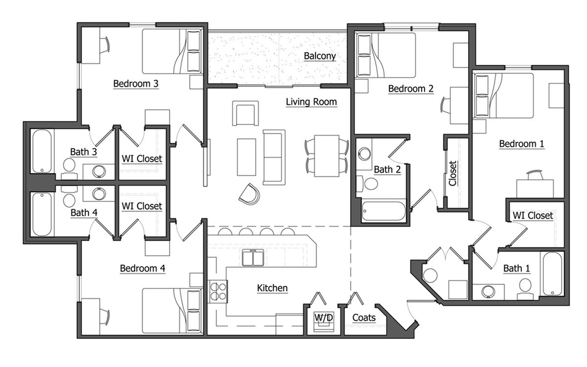 Floor Plan | MSU Off Campus Apartments | The Social Campus