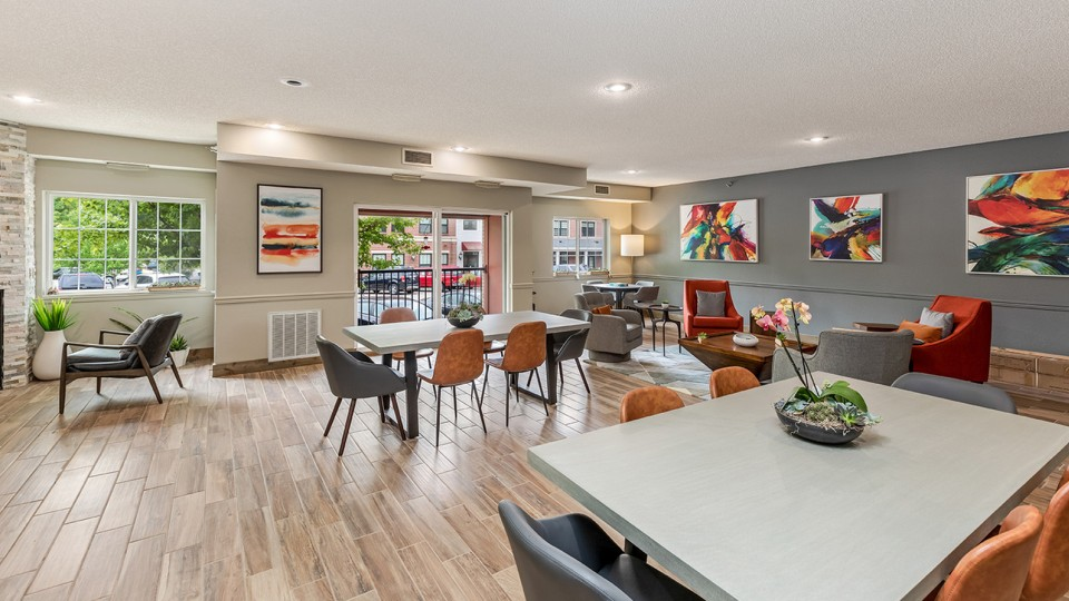 Zen Chaska Apartment Homes for Rent in Chaska NMN 55318 Clubhouse Tables