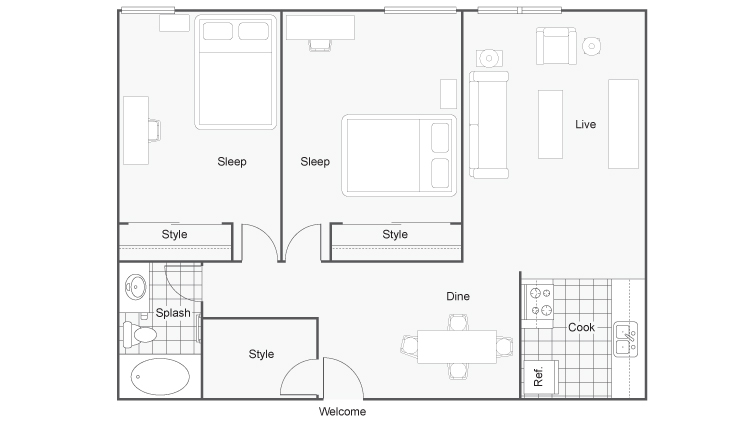 Floor Plan   The Social at Stadium Walk Apartment Homes for Rent in Ft Collins CO 80521
