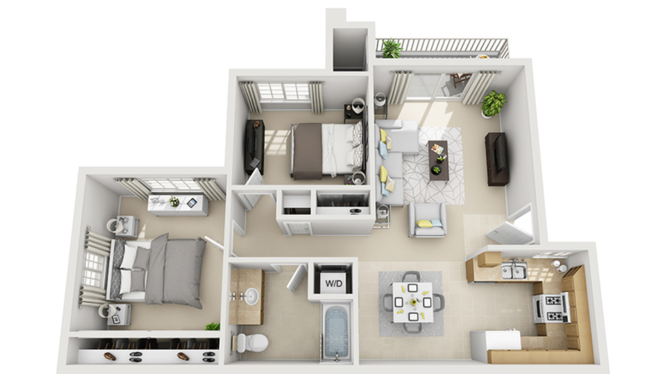 Floor Plan | ReNew Visalia Apartment Homes for Rent in Visalia CA 93292