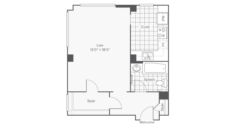 Floor Plan | The Windham Apartments Apartment Homes for Rent in Seattle WA 98121