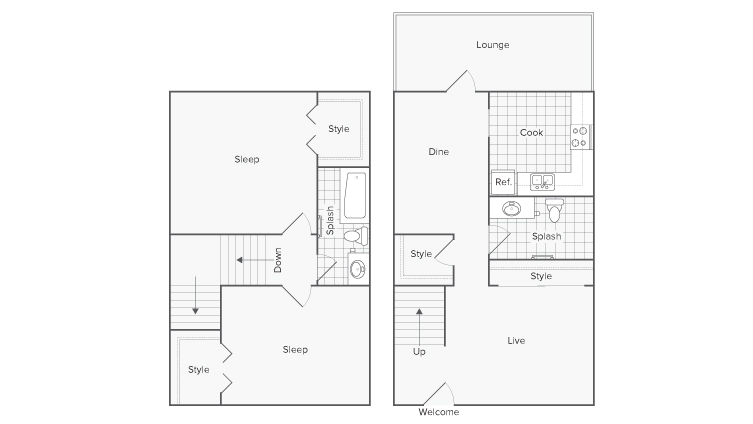 Floor Plan | Serene at Riverwood Apartment Homes for Rent in Athens GA 30606