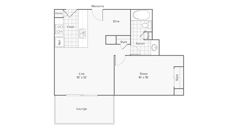 Floor Plan Layout | ReNew Riverview Apartment Homes for Rent in Memphis TN 38103