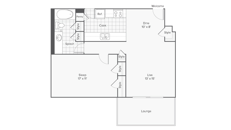 Floor Plan Layout   ReNew Riverview Apartment Homes for Rent in Memphis TN 38103