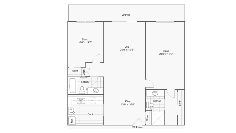 Floor Plan | Arrive Westborough Apartment Homes for Rent in Westborough MA 01581