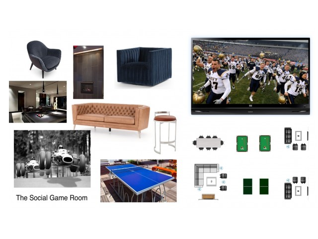 Game Room Concept Board