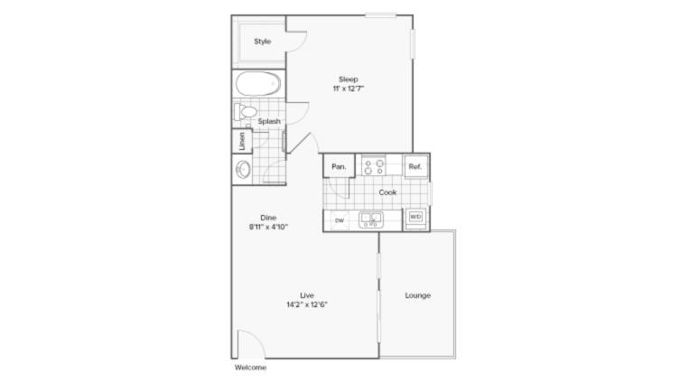 Floor Plan | ReNew Midland Apartment Homes for Rent in Midland TX 79703