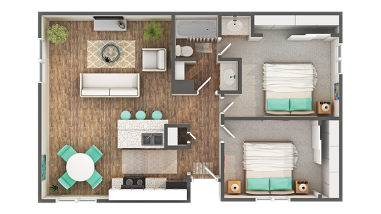 Floor Plan Layout | ReNew Carmichael Apartment Homes for Rent in Carmichael CA 95608
