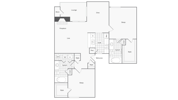 Floor Plan | ReNew at Polo Parkway Apartment Homes for Rent in Midland TX 79705