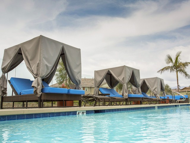 Image of Beautiful Cabanas Available Poolside for Arrive Los Carneros