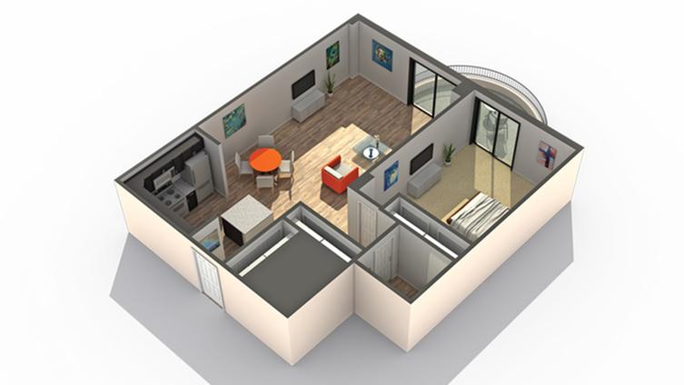 Floor Plan 1 | Apartments in Wheaton IL | ReNew Wheaton Center