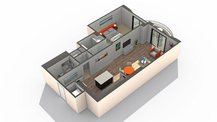 Floor Plan 2 | Apartments for Rent Wheaton IL | ReNew Wheaton Center