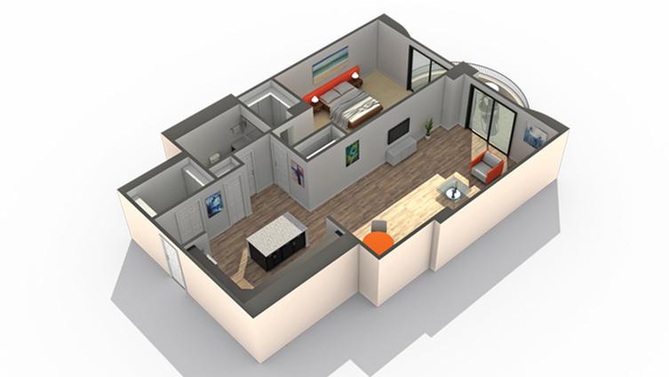 Floor Plan 3 | Apartments Wheaton IL | ReNew Wheaton Center