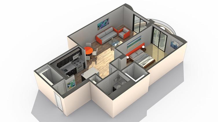 Floor Plan 4 | Wheaton IL Apartments | ReNew Wheaton Center