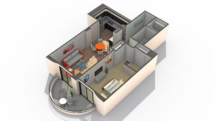 Floor Plan 5 | Apartments Near Wheaton IL | ReNew Wheaton Center