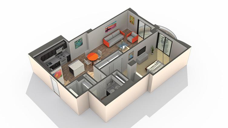 Floor Plan 7 | Apartments for Rent Wheaton IL | ReNew Wheaton Center