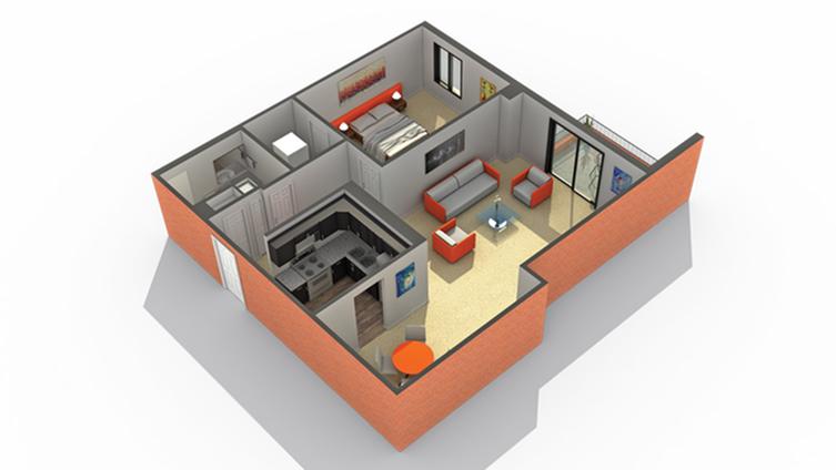 Floor Plan 8 | Apartments Wheaton IL | ReNew Wheaton Center