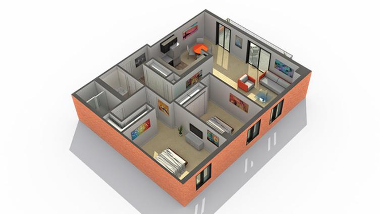 2 Bedroom Floor Plan | Apartments Wheaton IL | ReNew Wheaton Center