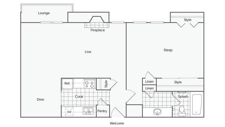 Floor Plan | ReNew Canyon Ridge Apartment Homes for Rent in Ogden UT 84401