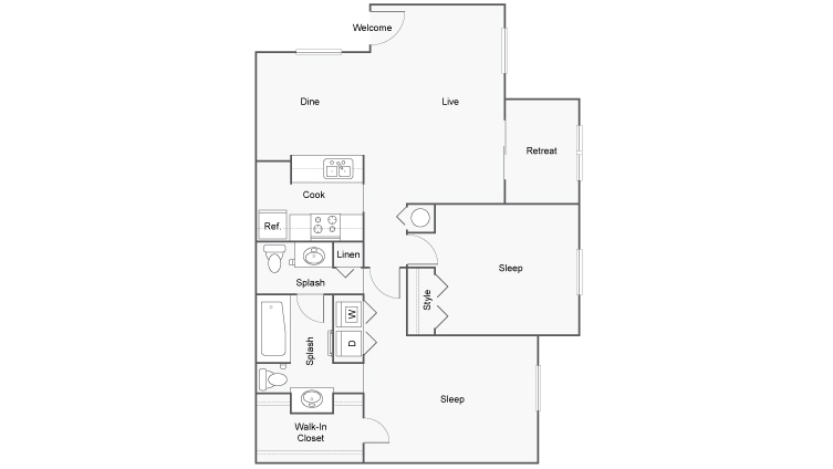 Floor Plan Layout | ReNew Parc Shores Apartment Homes for Rent in Duluth GA 30096