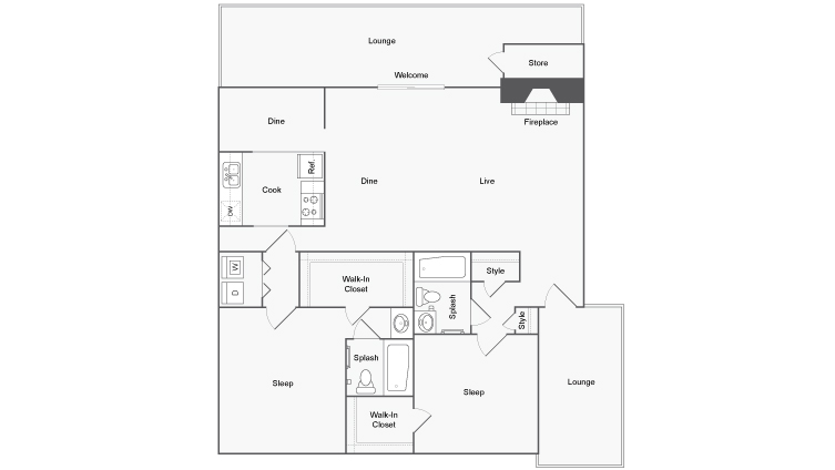 Floor Plans | ReNew Heights Apartment Homes for Rent in Midland TX 79705