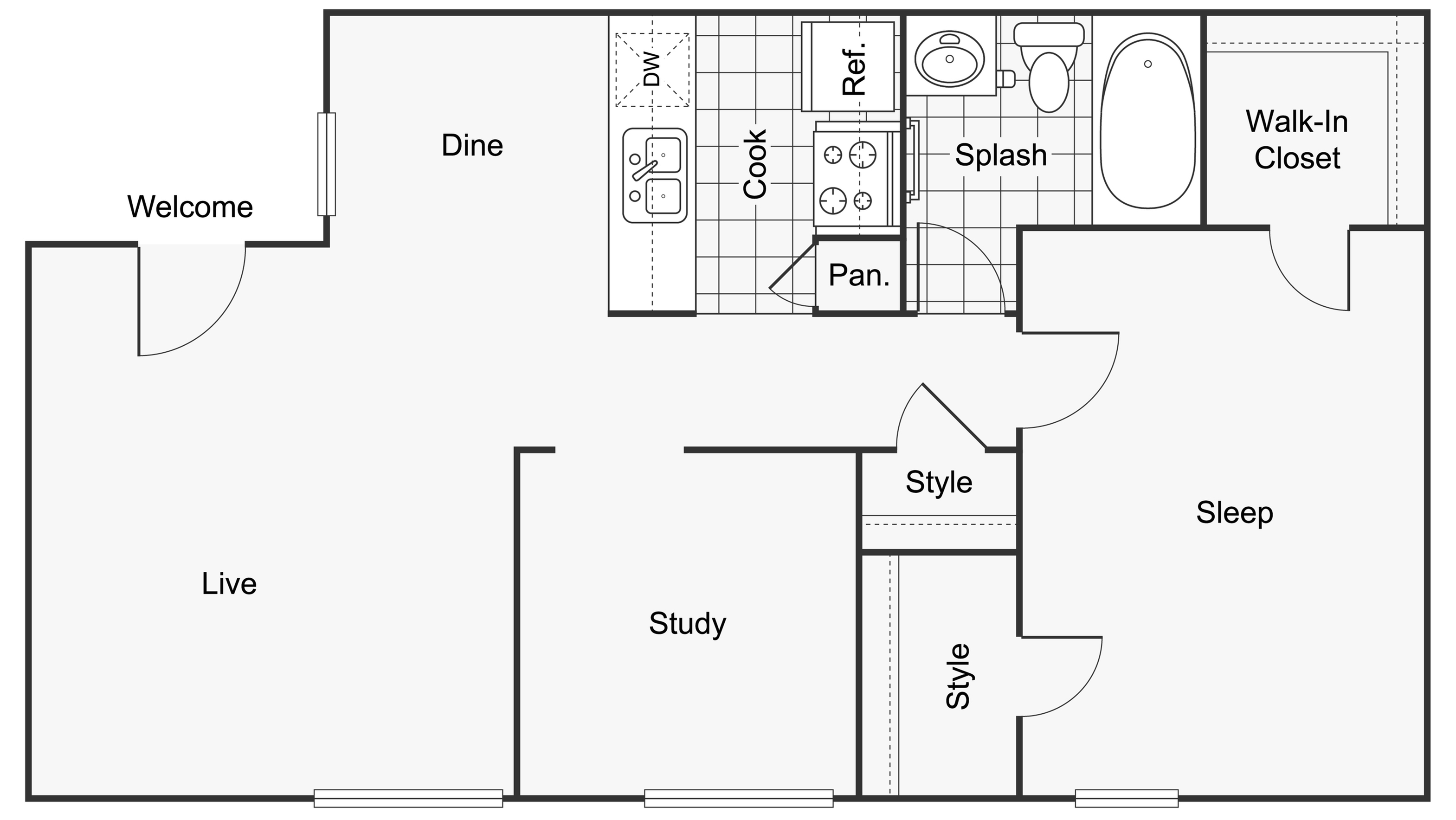 Floor Plan Images | ReNew Scotsdale Apartment Homes for Rent in Midland TX 79707