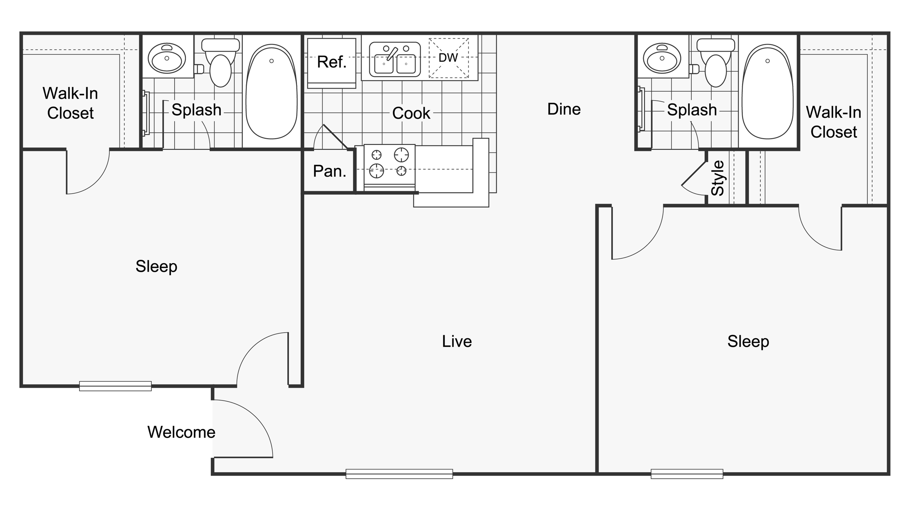 Floor Plan Images   ReNew Scotsdale Apartment Homes for Rent in Midland TX 79707