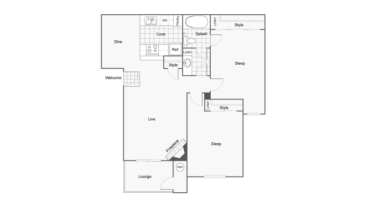 Floor Plan Layout | ReNew Mills Apartment Homes for Rent in Ontario CA 91761