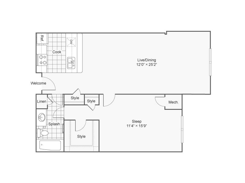 Floor Plan 1   Alexandria VA Apartments   Arrive Alexandria