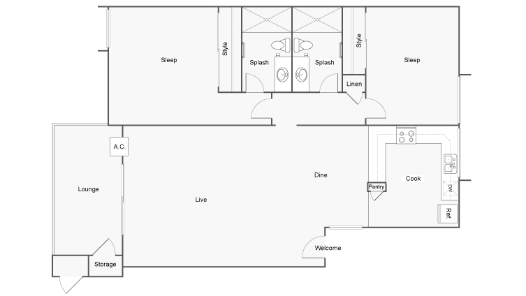 Floor Plan | Arrive Thousand Oaks Apartment Homes for Rent in Thousand Oaks CA 91362