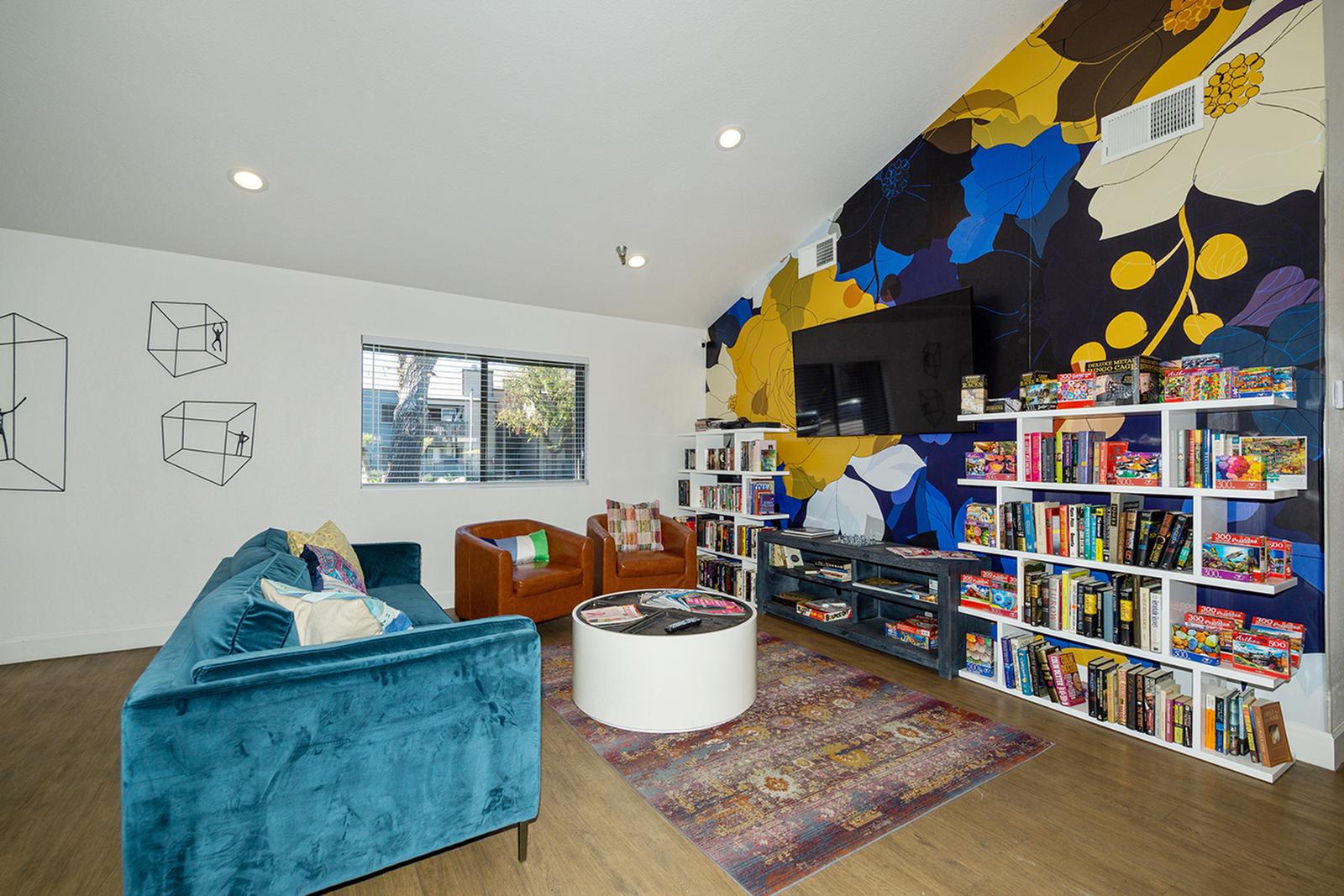 Image of Library for Zen Senior Living Diamond Valley