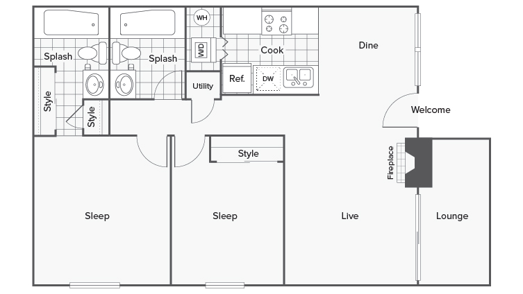 Floor Plan   ReNew Foothills Apartment Homes for Rent Fort Collins CO 80521