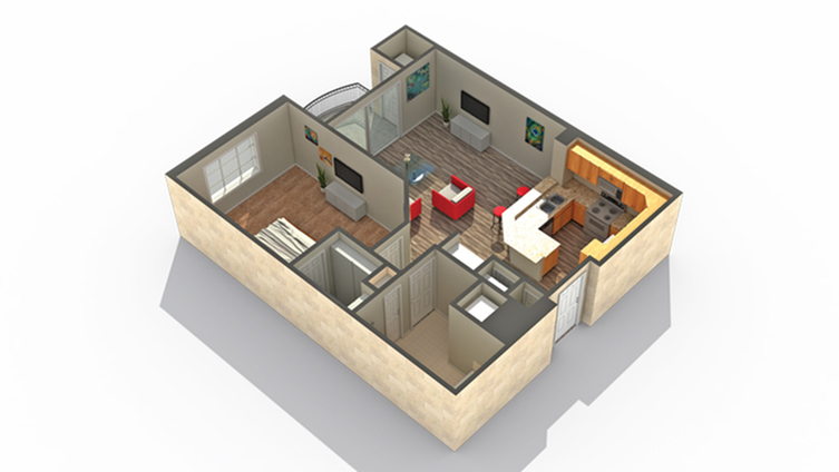 Floor Plan | Apartments Near Lombard IL | ReNew Downer\'s Grove