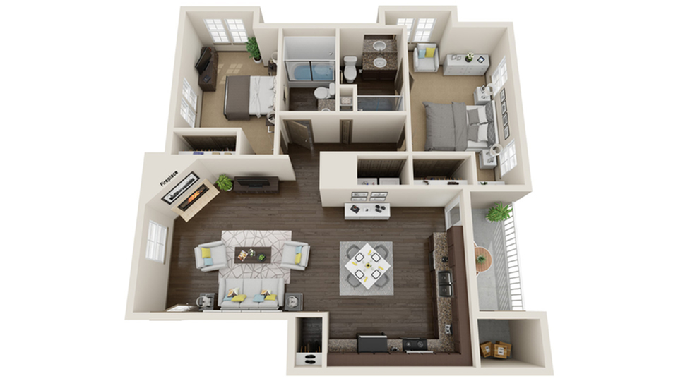 Floor Plan Images | ReNew Atascadero Apartment Homes for Rent in Atascadero CA 93422