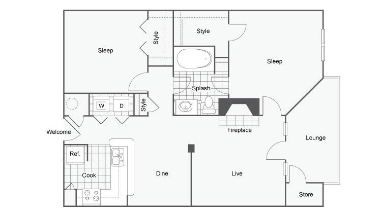 Floor Plan Images | Apartments In Atlanta | Arrive Perimeter