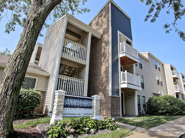 Location of The Avalon Apartment Homes