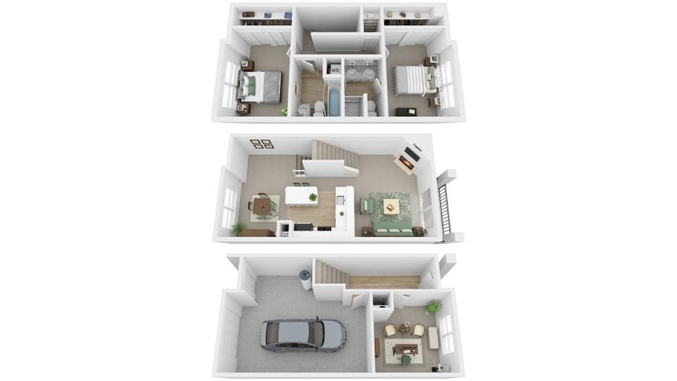 Floor Plan Images | North Bend Apartments Washington | Arrive North Bend