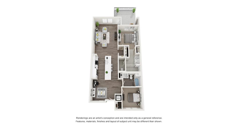 Floor Plan Images | Arrive Los Carneros Apartments For Rent Goleta CA 93117