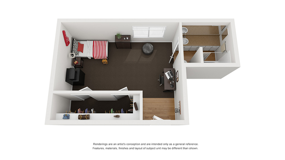 Floor Plan Image | Apartments Near CSU Chico | The Social Chico